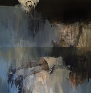 Ashley  Wood -  <strong>Happiness 10</strong> (2012<strong style = 'color:#635a27'></strong>)<bR /> oil and acrylic on linen,   72 x 72 inches   (182.88 x 182.88 cm)