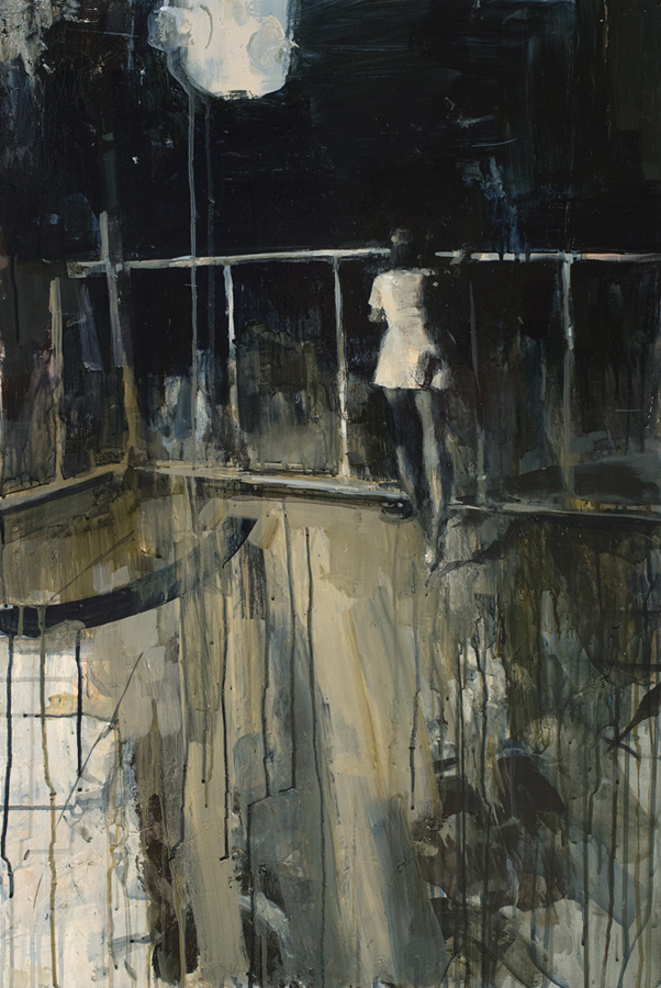 Ashley  Wood -  <strong>Of Course The Longing Was Fabricated</strong> (2012<strong style = 'color:#635a27'></strong>)<bR /> oil and acrylic on panel,   36 x 24 inches (91.44 x 60.96 cm)  38.75 x 26.75 x 2.25 inches, framed
