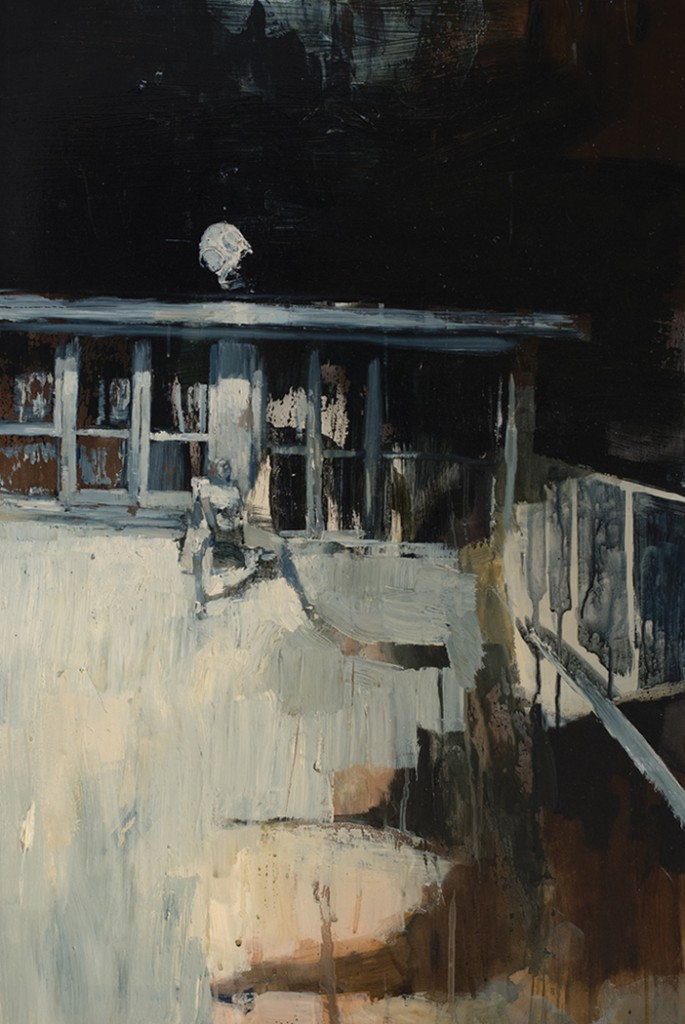 Ashley  Wood -  <strong>Of Course The Longing Was Fabricated 2</strong> (2012<strong style = 'color:#635a27'></strong>)<bR /> oil and acrylic on panel,   35.75 x 23.75 inches (90.81 x 60.33 cm)  38.25 x 26.375 x 2.25 inches, framed