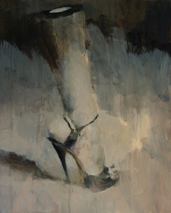 Ashley  Wood -  <strong>Ouch 1</strong> (2012<strong style = 'color:#635a27'></strong>)<bR /> oil and acrylic on panel,   20 x 15.875 inches (50.8 x 40.32 cm)  21.625 x 17.375 x 2.25 inches, framed