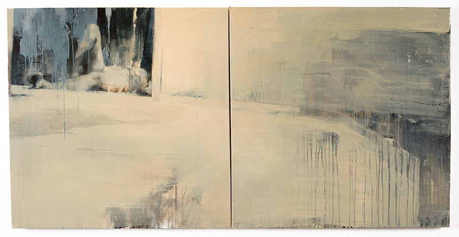 Ashley  Wood -  <strong>Sleeping Witch 27</strong> (2013<strong style = 'color:#635a27'></strong>)<bR /> multimedia on canvas panel,   30 x 60 inches  (76.2 x 152.4 cm)