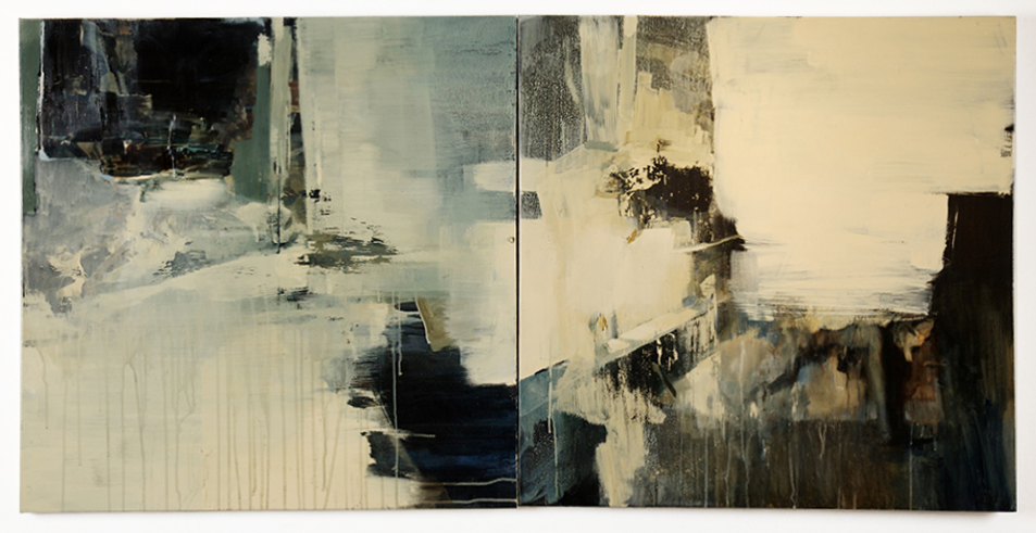 Ashley  Wood -  <strong>Sleeping Witch 34</strong> (2013<strong style = 'color:#635a27'></strong>)<bR /> multimedia on canvas panel,   36 x 72 inches  (91.44 x 182.88 cm)