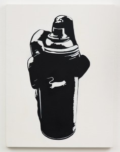 Blek le Rat    -  <strong>Spray Can</strong> (2013<strong style = 'color:#635a27'></strong>)<bR /> spray paint on canvas,   40 x 30 inches  (101.6 x 76.2 cm)