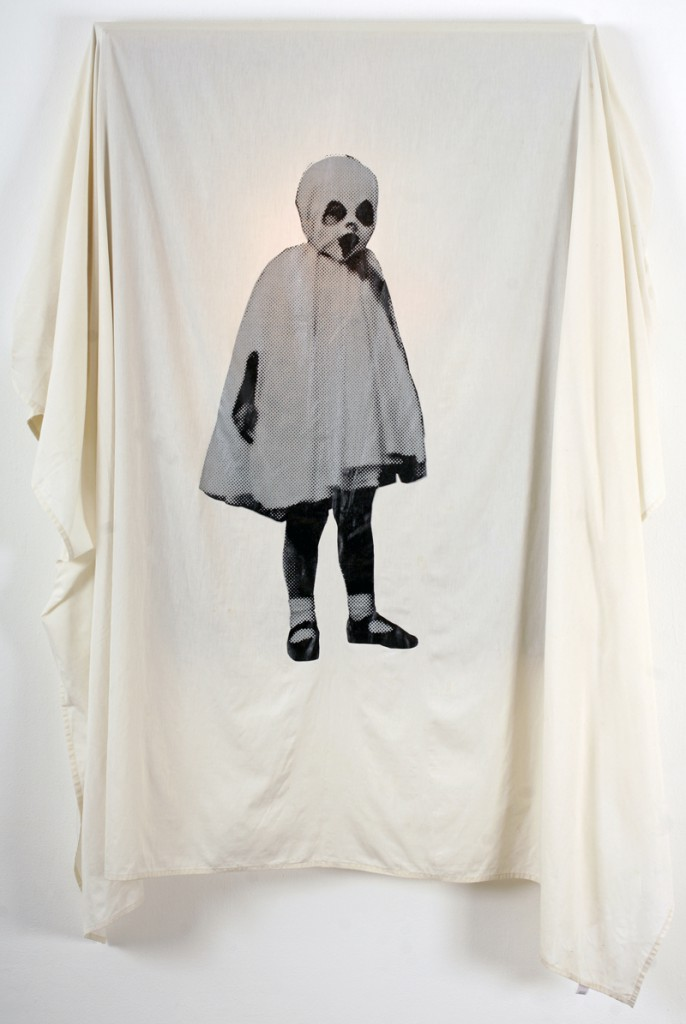 Gary  Baseman -  <strong>The Unveiling of La Petite Mort</strong> (2011<strong style = 'color:#635a27'></strong>)<bR /> silkscreen on cotton, series of 5,   variable size