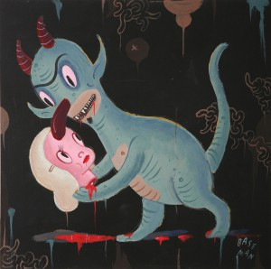 Gary  Baseman -  <strong>Untitled</strong> (2007<strong style = 'color:#635a27'></strong>)<bR /> Acrylic on Wood,   12 x 12 inches