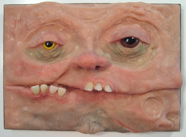 The Panorama Project  &nbsp -  <strong>Charlie Becker,</strong> (2008<strong style = 'color:#635a27'></strong>)<bR /> Polymer clay, false teeth & doll eyes on board,   5 x 7 inches