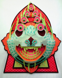 AJ  Fosik -  <strong>Being in so Far as Being Goes</strong> (2009<strong style = 'color:#635a27'></strong>)<bR /> wood, paint, and nails,   43 x 33 x 13 inches