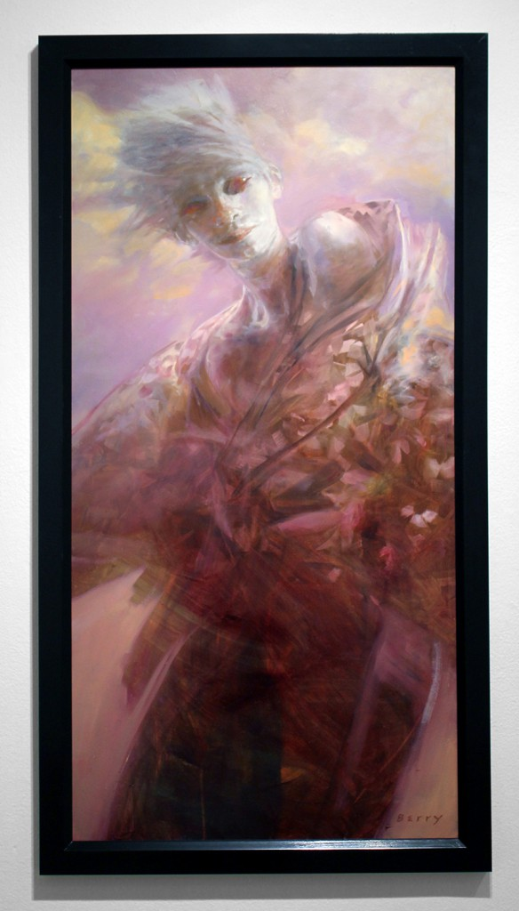 Rick  Berry -  <strong>Cross Over</strong> (2015<strong style = 'color:#635a27'></strong>)<bR /> oil on panel,   48 x 24 inches  (121.92 x 60.96 cm)