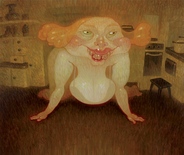 Dave  Cooper -  <strong>Big Girl</strong> (2010<strong style = 'color:#635a27'></strong>)<bR /> oil on canvas  20 x 24 inches  (50.8 x 60.96 cm)