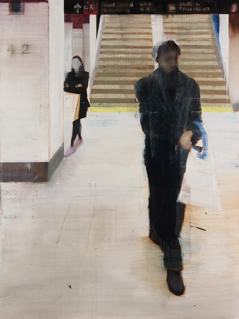 Brett  Amory -  <strong>Grand Central Station, 4-5pm (Waiting #177)</strong> (2013<strong style = 'color:#635a27'></strong>)<bR /> oil on wood panel,   36 x 48 inches  (91.44 x 121.92 cm)