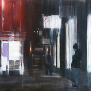 Brett  Amory -  <strong>Waiting 133</strong> (2012<strong style = 'color:#635a27'></strong>)<bR /> oil on panel,   48 x 48 inches  (121.92 x 121.92 cm)