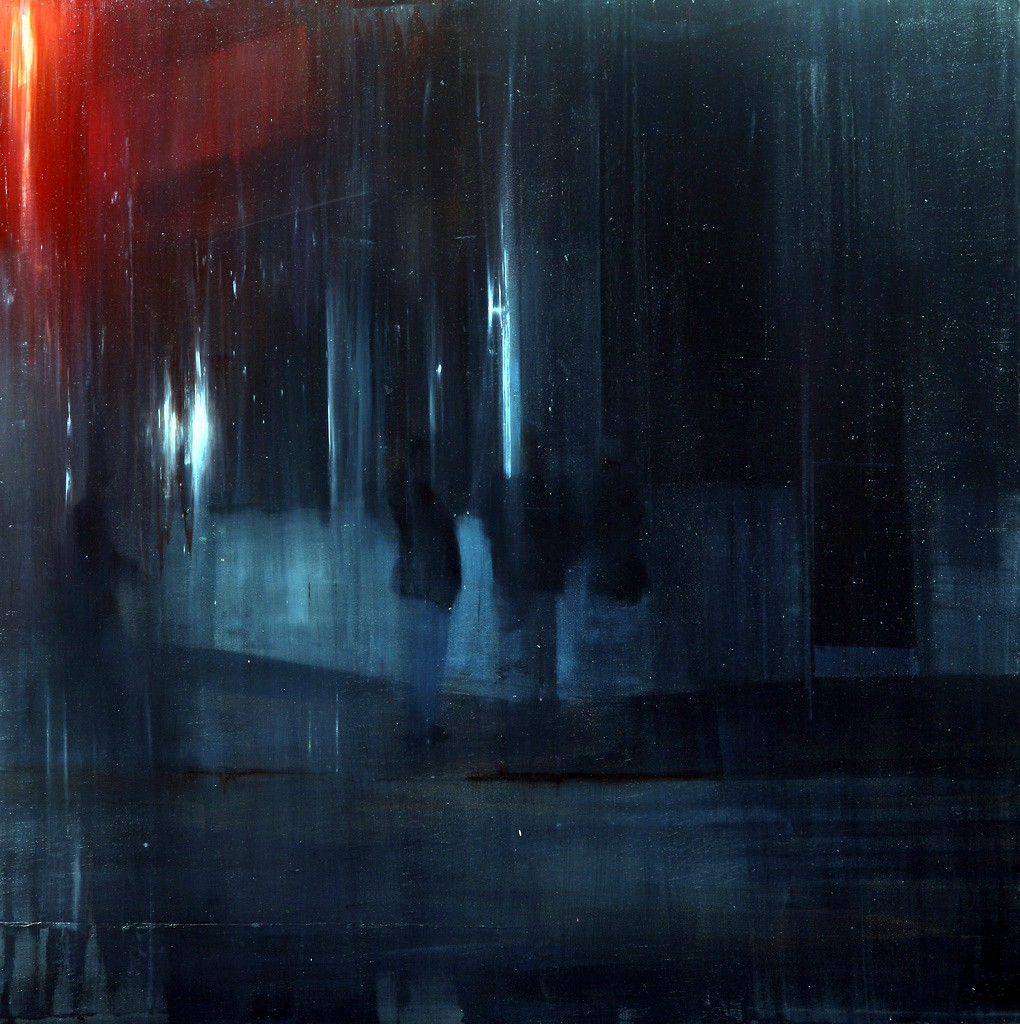 Brett  Amory -  <strong>Waiting 134</strong> (2012<strong style = 'color:#635a27'></strong>)<bR /> oil on panel,   48 x 48 inches  (121.92 x 121.92 cm)