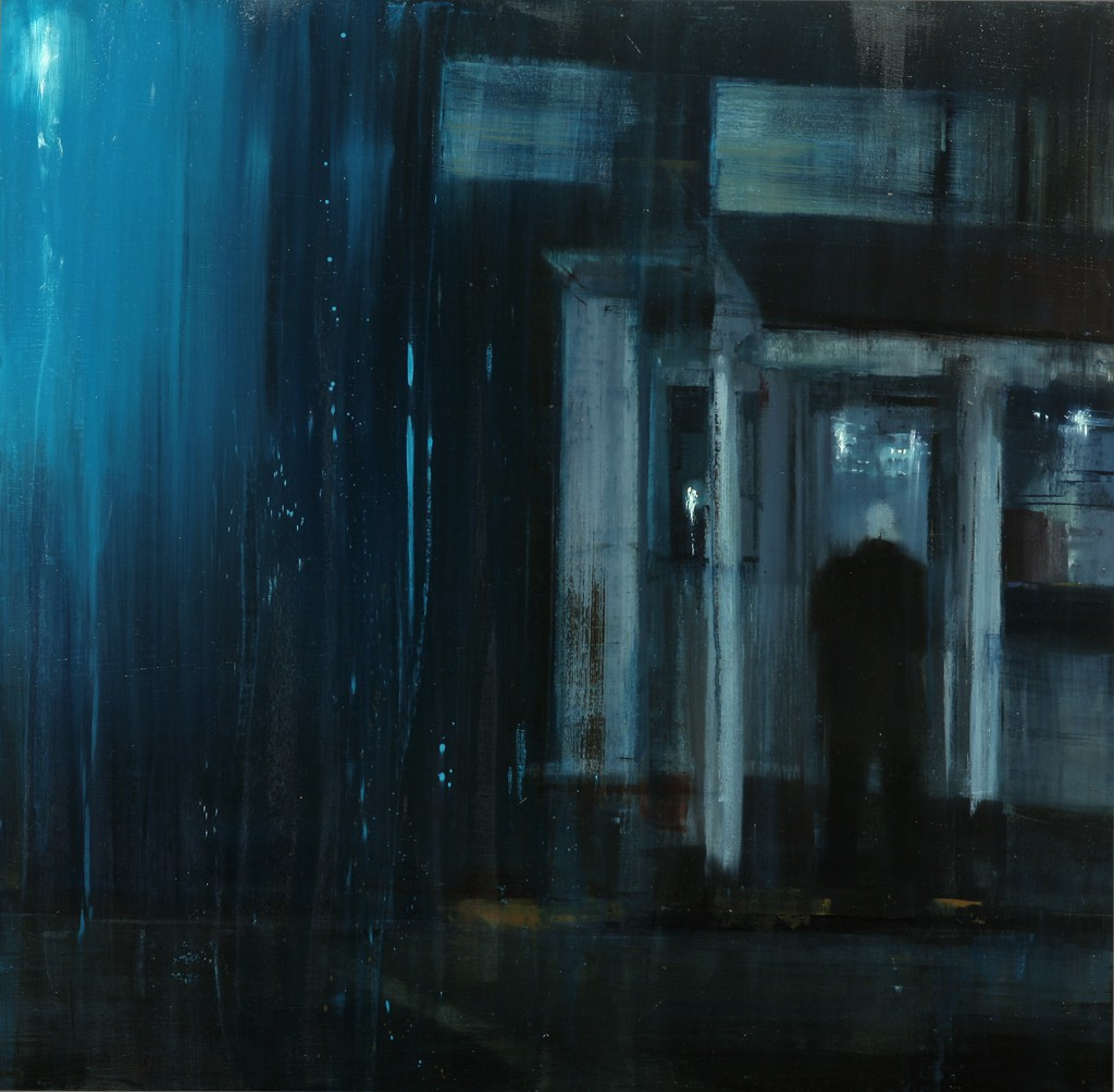Brett  Amory -  <strong>Waiting 135</strong> (2012<strong style = 'color:#635a27'></strong>)<bR /> oil on panel,   30 x 30 inches  (76.2 x 76.2 cm)