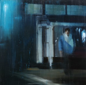 Brett  Amory -  <strong>Waiting 136</strong> (2012<strong style = 'color:#635a27'></strong>)<bR /> oil on panel,   30 x 30 inches  (76.2 x 76.2 cm)
