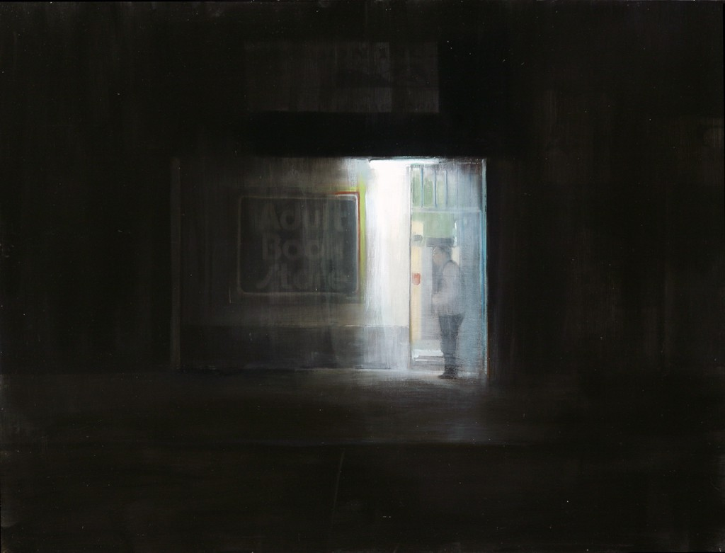 Brett  Amory -  <strong>Waiting 82</strong> (2011<strong style = 'color:#635a27'></strong>)<bR /> oil on wood panel,   36 x 48 inches  (91.44 x 121.92 cm)