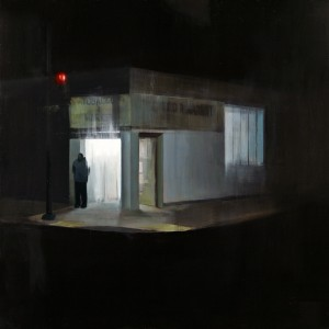 Brett  Amory -  <strong>Waiting 88</strong> (2011<strong style = 'color:#635a27'></strong>)<bR /> oil on wood panel,   48 x 48 inches  (121.92 x 121.92 cm)