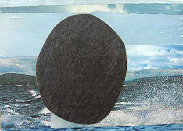 The Panorama Project  &nbsp -  <strong>Elise Church,</strong> (2008<strong style = 'color:#635a27'></strong>)<bR /> Collage & graphite on board,   5 x 7 inches