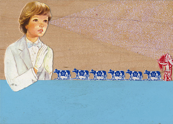 The Panorama Project  &nbsp -  <strong>Noel Claro,</strong> (2008<strong style = 'color:#635a27'></strong>)<bR /> Collage on board,   5 x 7 inches