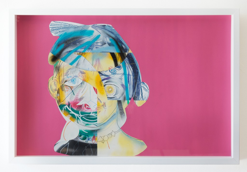 Clayton Brothers  &nbsp -  <strong>Complicated #3</strong> (2014<strong style = 'color:#635a27'></strong>)<bR /> mixed media on paper,   23 1/2 x 35 1/2 inches,   (59.69 x 90.17 cm),   24 1/2 x 36 1/2 x 2 1/2 inches, framed