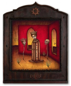 Daniel Martin Diaz -  <strong>Contemplatio</strong> (2005<strong style = 'color:#635a27'></strong>)<bR /> Oil on Wood   24&amp;quot; x 19&amp;quot;  -Contact Gallery for Availability-