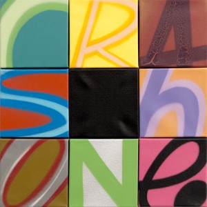 Crash     -  <strong>Untitled (CRASHONE)</strong> (2014<strong style = 'color:#635a27'></strong>)<bR /> spray paint on canvas,   18 x 18 inches  (45.72 x 45.72 cm)