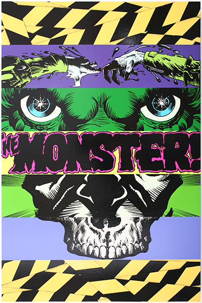 D*Face  &nbsp -  <strong>Monster</strong> (2009<strong style = 'color:#635a27'></strong>)<bR /> enamel on wood panel,   48 x 31 1/2 inches [122 x 80 cm]