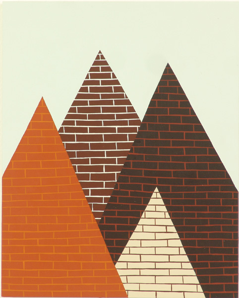 Jim  Houser -  <strong>The Location of a Grave</strong> (2005<strong style = 'color:#635a27'></strong>)<bR /> Acrylic on wood,   10 x 8 inches
