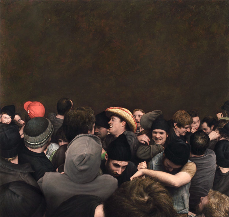 Dan  Witz -  <strong>70 Commercial Street (small)</strong> (2010<strong style = 'color:#635a27'></strong>)<bR /> oil and digital media on canvas,   34 x 36 inches (86.36 x 91.44 cm)  35.375 x 37.375 x 2.5 inches, framed