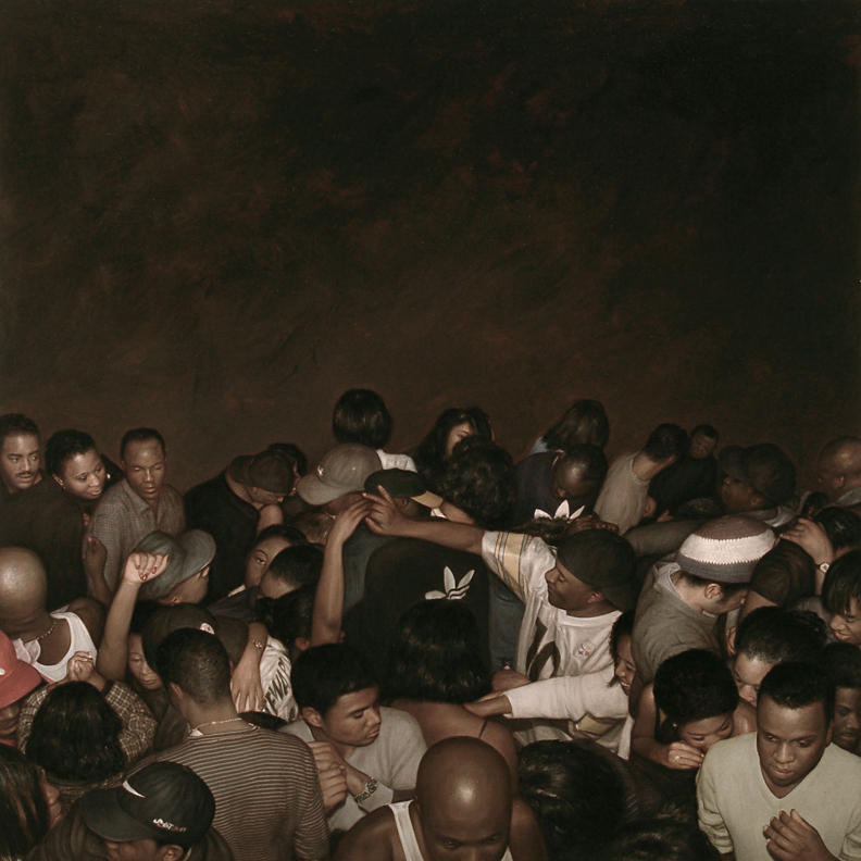 Dan  Witz -  <strong>Sapphire Lounge</strong> (2008<strong style = 'color:#635a27'></strong>)<bR /> oil and mixed media on canvas,   48 x 48 inches  (122 x 122 cm) ,   49.5 x 49.5 inches, framed