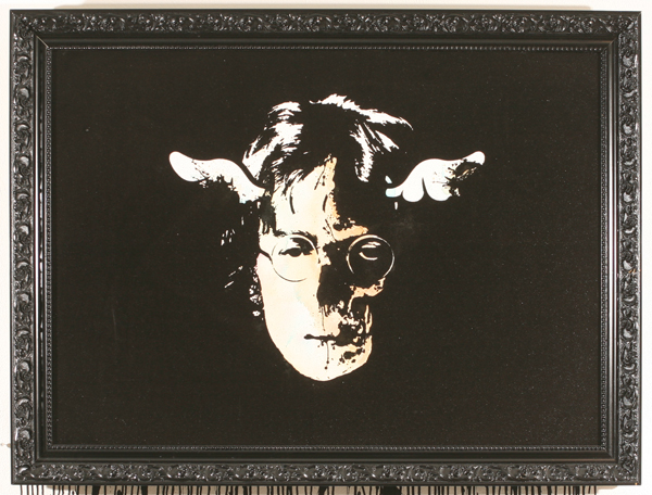 D*Face  &nbsp -  <strong>Dead Beatle</strong> (2007<strong style = 'color:#635a27'></strong>)<bR /> Mixed Media on Canvas,   30 1/2 x 40 3/4 inches