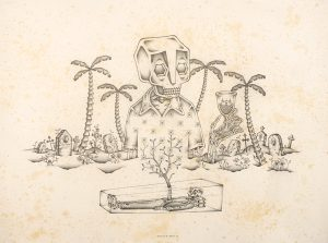Stephan  Doitschinoff -  <strong>Death is a Holiday</strong> (2008<strong style = 'color:#635a27'></strong>)<bR /> Graphite on Paper,   Image size: 22  x 30 inches  Frame size: 26 x 33 inches