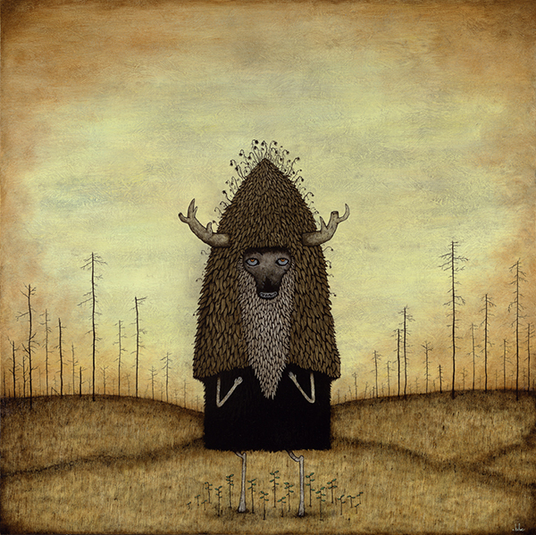 Andy  Kehoe -  <strong>Decay Nurtures Life Anew</strong> (2009<strong style = 'color:#635a27'></strong>)<bR /> acrylic and oil on panel,   image size: 30 x 30 inches,   framed size: 34 5/8 x 34 5/8 inches
