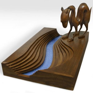 Scott  Musgrove -  <strong>Deluxe Dromedary</strong> (2010<strong style = 'color:#635a27'></strong>)<bR /> wood and glass  12 x 20 x 13 inches  (30.48 x 50.8 x 33.02 cm)