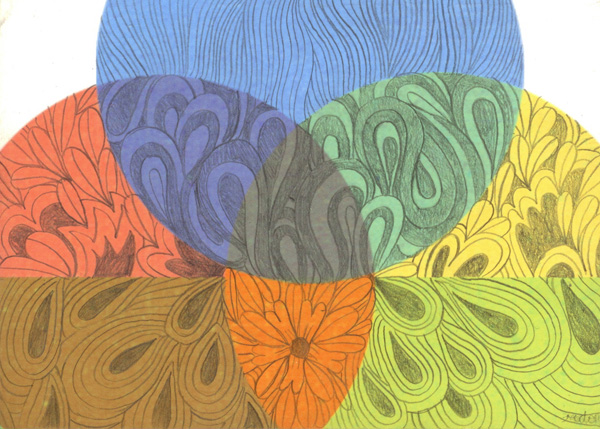 The Panorama Project  &nbsp -  <strong>Rachel Domm,</strong> (2008<strong style = 'color:#635a27'></strong>)<bR /> Colored pencil on paper on board,   5 x 7 inches