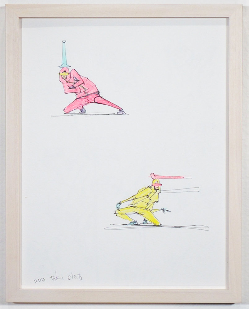 Taku  Obata -  <strong>Drawing 17</strong> (2013<strong style = 'color:#635a27'></strong>)<bR /> ink and colored pencil on paper,   10.25 x 8.13 inches  (26.04 x 20.65 cm),   Please contact gallery for availability