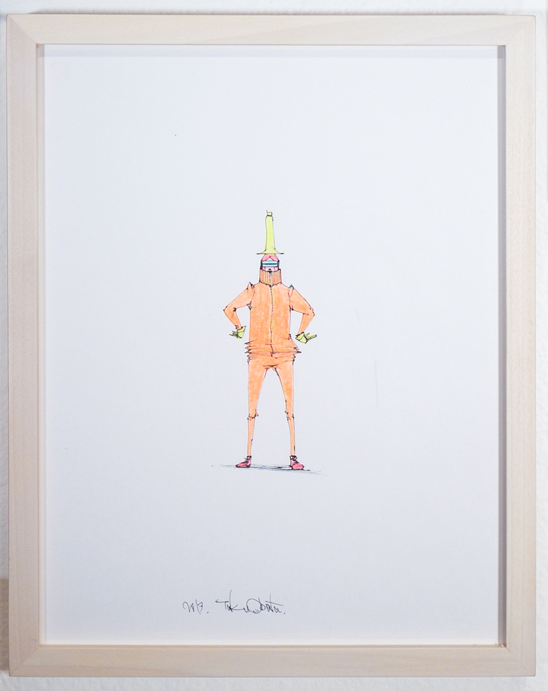 Taku  Obata -  <strong>Drawing 9</strong> (2013<strong style = 'color:#635a27'></strong>)<bR /> ink and colored pencil on paper,   10.13 x 8.25 inches  (25.73 x 20.96 cm)