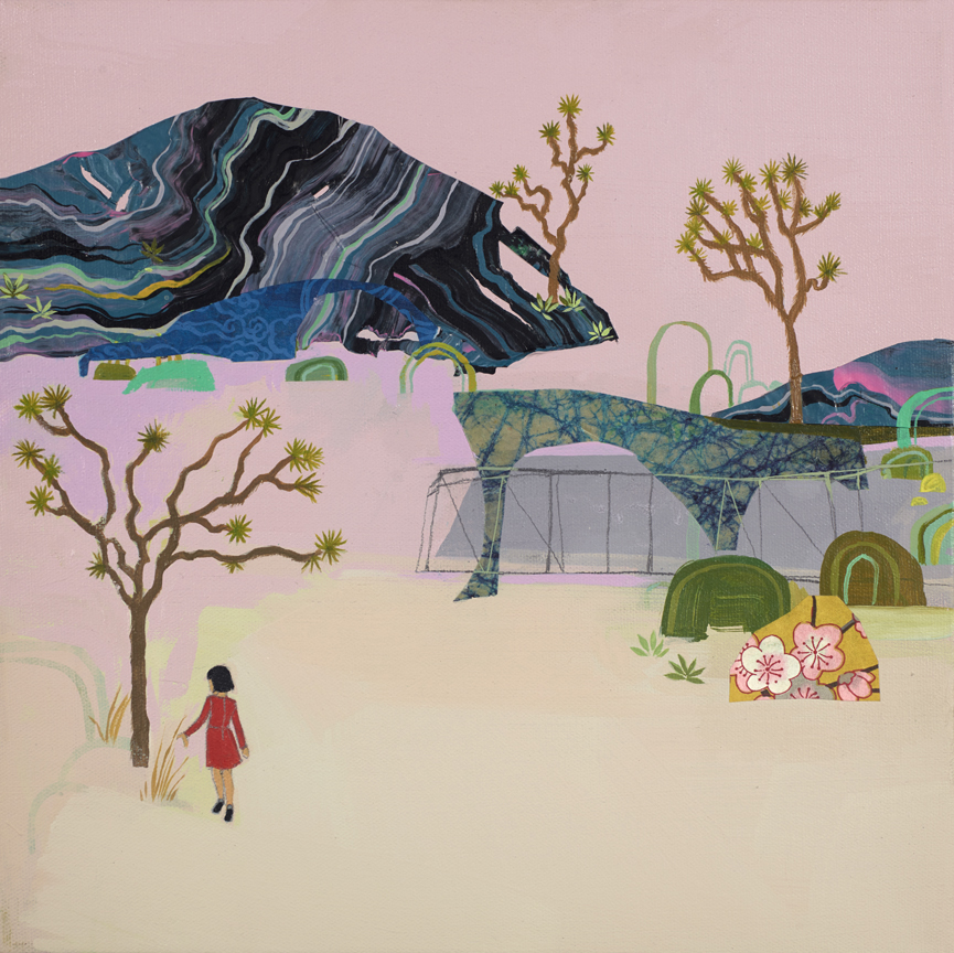 Seonna  Hong -  <strong>Drought Tolerance</strong> (2015<strong style = 'color:#635a27'></strong>)<bR /> acrylic on canvas,   12 x 12 inches  (30.48 x 30.48 cm)
