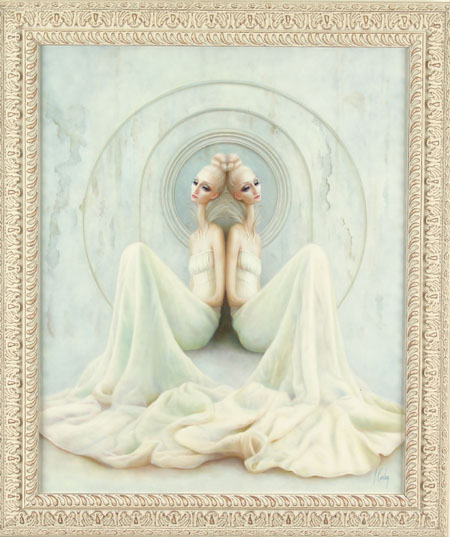 Lori  Earley -  <strong>One</strong> (<strong style = 'color:#635a27'></strong>)<bR /> oil on canvas,   28 x 23 in. (71.12 x 58.42 cm),   29 x 34 in. (73.66 x 86.36 cm) framed