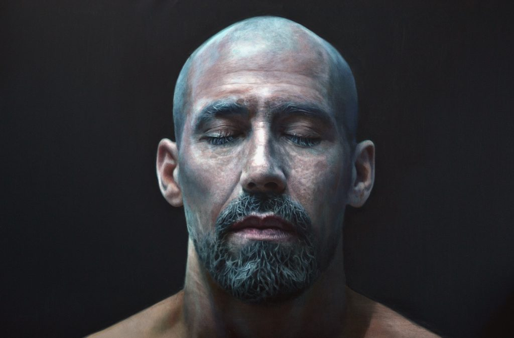 Eloy  Morales -  <strong>David 1</strong> (2015<strong style = 'color:#635a27'></strong>)<bR /> oil on canvas,   51.18 x 76.77 inches  (130 x 195 cm)