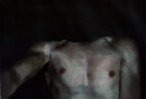 Eloy  Morales -  <strong>Headless Torso 1</strong> (<strong style = 'color:#635a27'></strong>)<bR /> oil on canvas,   15.75 x 23.62 inches  (40 x 60 cm)