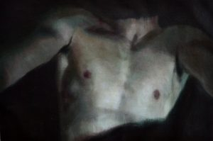 Eloy  Morales -  <strong>Headless Torso 3</strong> (<strong style = 'color:#635a27'></strong>)<bR /> oil on canvas,   15.75 x 23.62 inches  (40 x 60 cm)