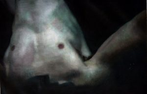 Eloy  Morales -  <strong>Headless Torso 4</strong> (<strong style = 'color:#635a27'></strong>)<bR /> oil on canvas,   15.75 x 23.62 inches  (40 x 60 cm)