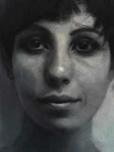 Eloy  Morales -  <strong>Maria</strong> (2013<strong style = 'color:#635a27'></strong>)<bR /> oil on paper,   16.5 x 11.63 inches  (41.71 x 29.54 cm)
