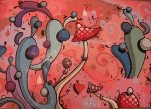 Highraff   -  <strong>7</strong> (<strong style = 'color:#635a27'></strong>)<bR /> Mixed Media on Canvas,   76 x 38 inches
