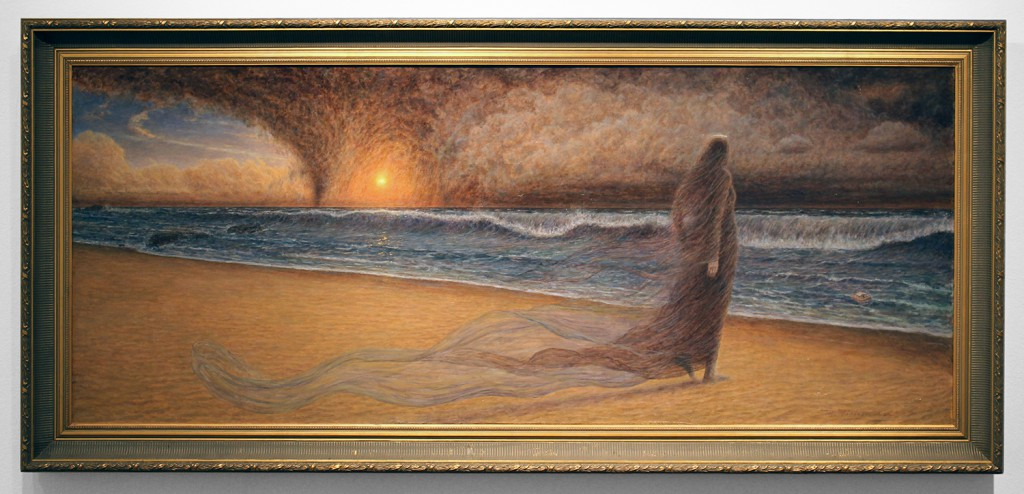 Marc  Fishman -  <strong>Time</strong> (2015<strong style = 'color:#635a27'></strong>)<bR /> oil on canvas,   28 x 68 inches  (71.12 x 172.72 cm)  35 x 75 inches, framed