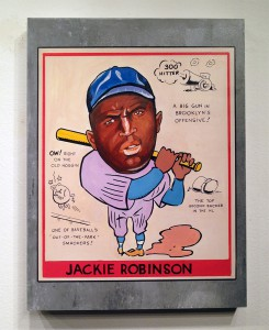 Freedom   -  <strong>Jackie Robinson</strong> (2014<strong style = 'color:#635a27'></strong>)<bR /> 18 x 24 inches  (45.72 x 60.96 cm)