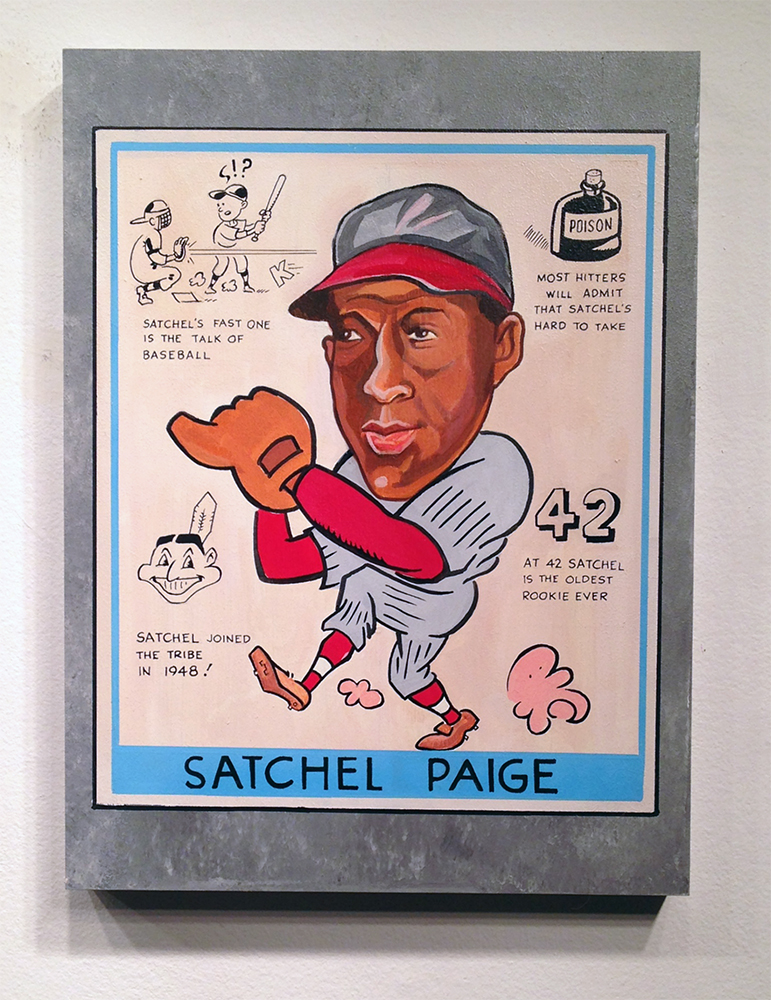 Freedom  &nbsp -  <strong>Satchel Paige</strong> (2014<strong style = 'color:#635a27'></strong>)<bR /> 18 x 24 inches  (45.72 x 60.96 cm)