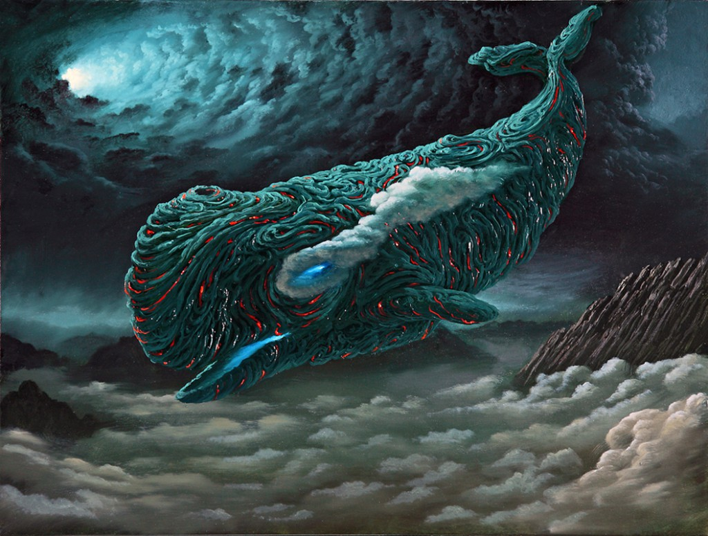 Fulvio  Di Piazza -  <strong>Magmawhale</strong> (2012<strong style = 'color:#635a27'></strong>)<bR /> oil on canvas,   11.75 x 15.75 inches  (30 x 40 cm)