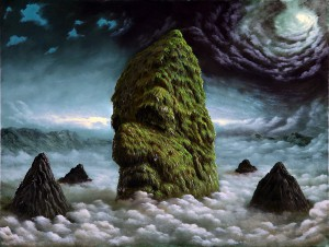 Fulvio  Di Piazza -  <strong>Sleeping Mountain</strong> (2012<strong style = 'color:#635a27'></strong>)<bR /> oil on canvas,   11.75 x 15.75 inches  (30 x 40 cm)