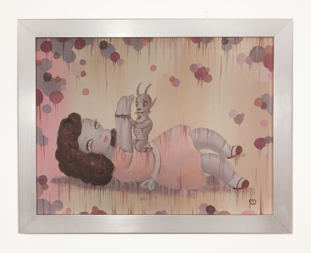 Gary  Baseman -  <strong>The Surrender of Ruth</strong> (2014<strong style = 'color:#635a27'></strong>)<bR /> acrylic on canvas,   18 x 24 inches  (60.96 x 45.72 cm),   20 7/8 x 26 7/8 inches, framed